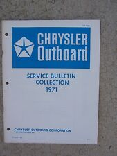 1971 Chrysler Outboard Motor Technical Service Bulletin Collection Manual Boat T