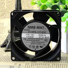 NMB 3115PS12T-B30 AC 115V 80x80x38mm COOLING FAN BALL BEARING