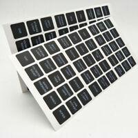 45pc Rocker Switch Label Decal Circuit Fuse Panel Sticker Marine Boat Instrument