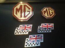 MG ZT badge mise à niveau de Calandre Avant, Arrière & 3 chequerred et Union Jack Drapeaux