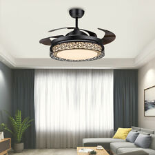 """42"""" Invisible Ceiling Fan Light Led Dimmable Chandelier Lamp with Remote Control"""