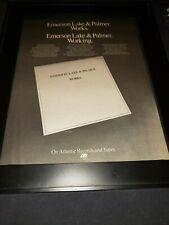 ELP Works Rare Original Promo Poster Ad Framed!