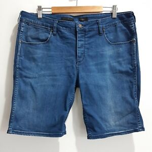 Wrangler Men's Denim Shorts Size 36 Blue Stomper Button Fly Cotton Blend