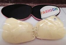Self Adhesive Bra Luxury Strapless Backless D Reusable Push-Up Angel wing Beige