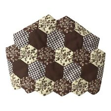 More details for vintage 1970's brown patchwork tea cosy floral gingham country cottage decor