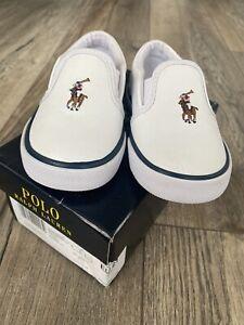 Baby Ralph Lauren Bal Harbour Slip On Sneaker, weiß 4.5uk