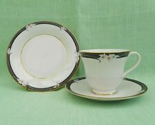 Royal Doulton Enchantment bone china footed tea cup, saucer & plate trio -TC1156