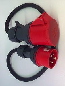 CEE Adapter Starkstrom  16 A Stecker auf 32 A Kupplung 1 Mtr. H07RN-F 5G2,5