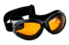 Large Orange Lens Motorcycle Goggles Riding Sport Biker Sunglasses Cyber Gothic