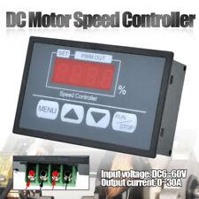 6-60V PWM DC Motor Speed Regulator Power Controller Switch Digital Display Tools