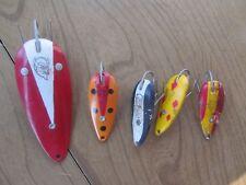 Lot of 5 Vintage Detroit  Dardevle l Spoon Fishing Weedless Lures