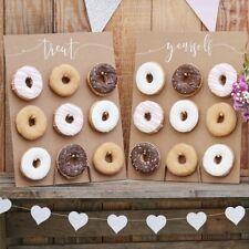 DONUT WALL CAKE ALTERNATIVE RUSTIC COUNTRY DECORATIONS BIRTHDAY HEN WEDDING