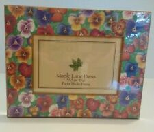 Maple Lane Press WILDFLOWERS Photo Frame Paperboard 3x5 or 4x6 New Sealed PANSY