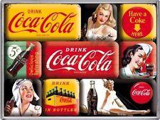 9-teiliges Magnetset - Coca Cola - Nostalgic Art
