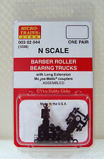 Micro-Trains 00302044 N 1038 Barber Roller Bearing Trucks w/Long Ext. Couplers