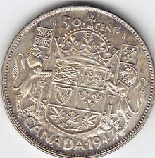 1947 Canada Fifty Cent Straight 7 Wide Date