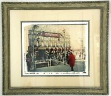 """Paris Metro Station""-S.Sonshine-Photography-Emulsion Transfer Image-Art-Framed"