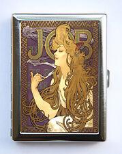 JOB Art Nouveau Goddess Cigarette Case id case Wallet Business Card Holder mucha