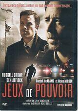 DVD ZONE 2--JEUX DE POUVOIR--CROWE/AFFLECK/MIRREN/MC ADAMS/MAC DONALD