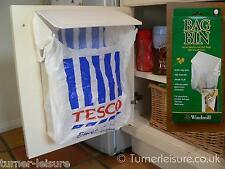 Carrier bag bin holder Plastic bags to rubbish bag in motorhome & caravan door