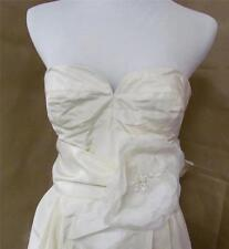 $1500 J Crew Sascha Silk Taffeta Wedding Ivory Gown dress Size 6 NEW