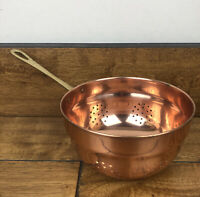 Copper Strainer With Brass Handle 6 Inch