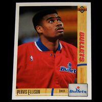 Vintage Basketball Card, 1991 UPPER DECK, NBA, WASHINGTON BULLETS,Pervis Ellison