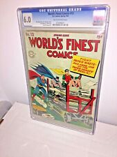 World's Finest Comics #13, CGC 6.0, Tan to Off-White Pages