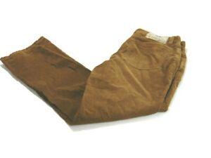 Polo Ralph Lauren Jeans Brown Corduroy Flat Front Cotton 5 Pockets Mens Size 36