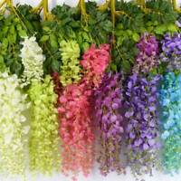 12 Pack Artificial Fake Wisteria Vine Ratta Hanging Garland Silk Flower Decor US