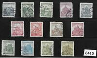 #6415  WWII Stamp set / Third Reich / Castles & Cathedrals  / Germany Occupation