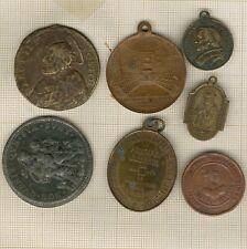 lot de 7 médailles anciennes  papales et religieuses