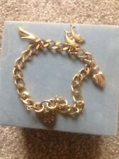 Ladies Gold Charm Bracelet