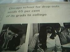 news item 1971 second chance academy chicago school article