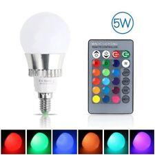E14 5W RGB Bunte LED Birne Farbwechsel Lampe Licht Dimmbare mit IR Fernbedienung