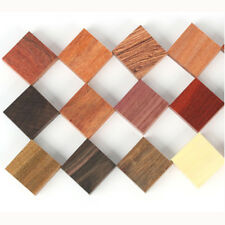 15 pcs Assorted Wood Blanks Material for Finger Ring Making DIY Woodwork Craft