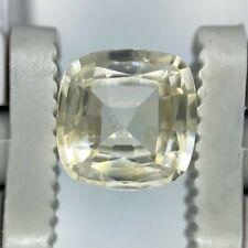 GIA Certified NO HEAT NATURAL Yellow Sapphire Cushion Cut 2.03 CT Ceylon