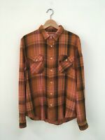 Levi's Vintage Clothing (LVC) Shorthorn Orange & Pink Plaid Size Medium NWOT
