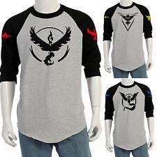 POKEMON Go Team VALOR Mystic ISTINTO T-shirt a girocollo MAGLIETTE ESTATE