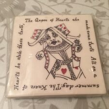 British Library Alice in Wonderland Coaster with Queen of Hearts Design