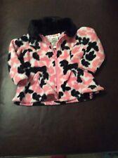 Lemon Kiss Dress Fleece Jacket Size 12 Months Black Pink And White
