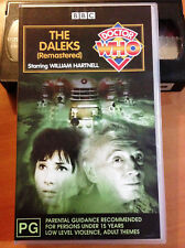 DR WHO - THE DALEKS - REMASTERED - WILLIAM HARTNELL - VHS