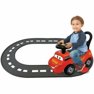 Kiddieland Disney Cars Lightning McQueen 3-in-1 Go-Go-Racer Ride-On with Track