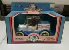 Ertl 1918 Ford Runabout True Value die cast metal Bank NIB 1986