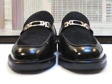 Men's Church's Prima Classe Black Suede & Calf Metal Bit Loafers Size 8.5 M