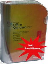 MS Office 2007 STANDARD Vollversion+Zweitlizenz(-nutzungsrecht)+CD/DVD BOX DE