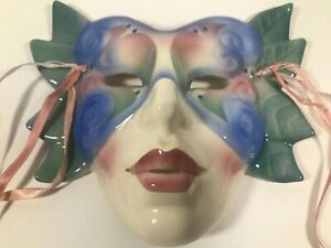 ABOUT FACE Vintage Clay Art San Francisco Cat Woman Hanging Wall Mask