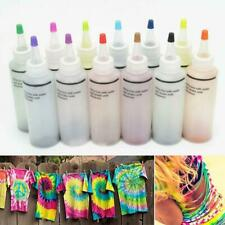 12 Bottles Tulip One Step Tie Dye Set Vibrant Fabric Textile Permanent Paint Hot