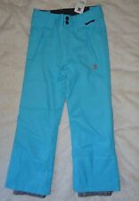 $90 NWT DC Exotex Piper K Sz M/12-14 SNOWBOARD winter SNOW PANTS Turquoise Blue