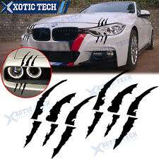 2X Vinyl Monster Claw Scratch Reflective Sticker Front Headlight For BMW F30 F31